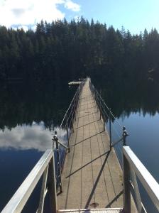 Sasamat Lake - floating bridge
